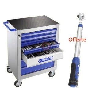 Servante d'atelier 7 tiroirs 250 outils
