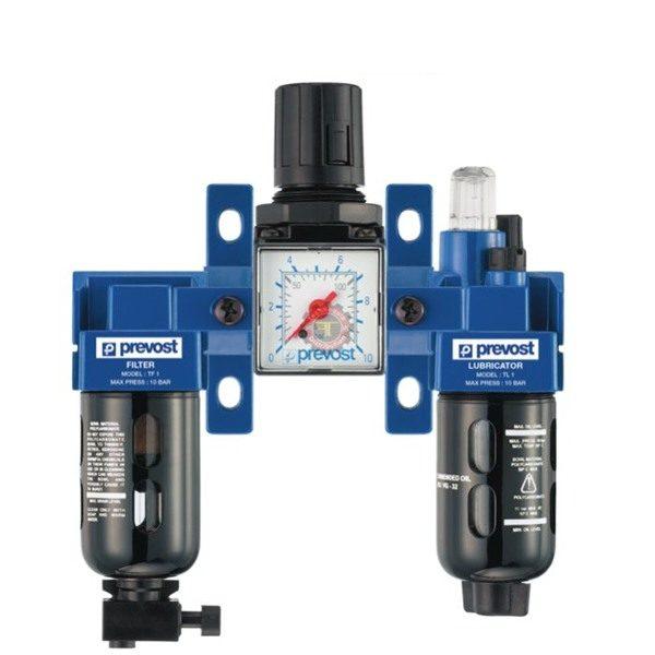 Filtre régulateur lubrificateur mano 3 blocs pneumatique