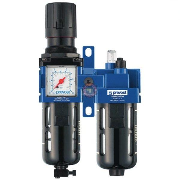 Filtre régulateur lubrificateur mano 2 blocs pneumatique