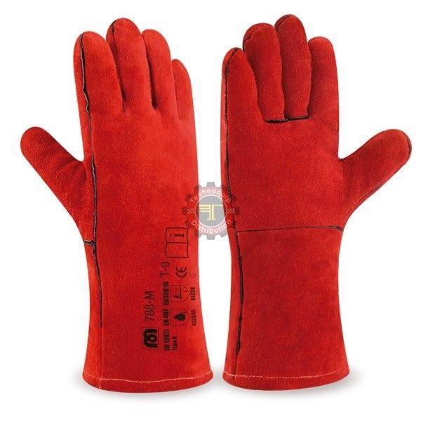 Gant anti chaleur rouge soudeur rouge équipement de protection individuelle tunisie soudure tunisie