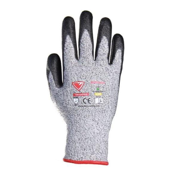 gant anti coupure cut5 sécurité équipement protection individuel tunisie PU anti coupure coupures cut 5 cut5