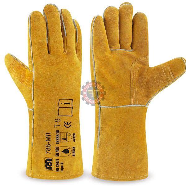 gant anti chaleur jaune soudeur jaune équipement de protection individuelle tunisie