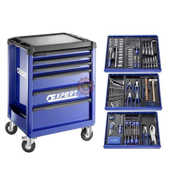 Servante d'atelier 6 tiroirs 209 outils