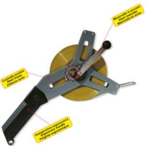 Roulette en acier à ruban métallique 50 m