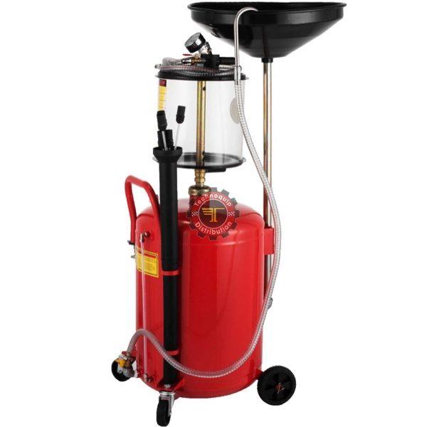 Vidangeur d'huile avec entonoir récupérateur équipement de garage tunisie technoquip industrielle