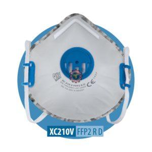 Demi masque anti poussière ffp2 au charbon actif avec valve