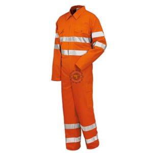 Combinaison haute visibilité orange