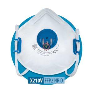 Demi masque anti poussière ffp2 avec valve