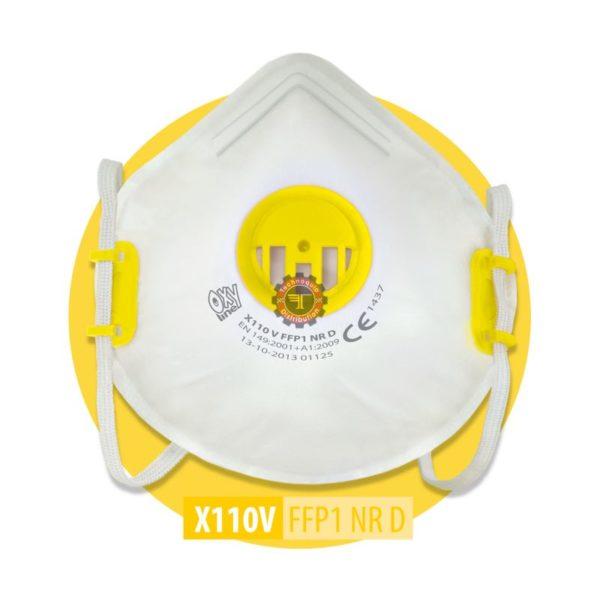 Demi masque anti poussière ffp1 avec valve