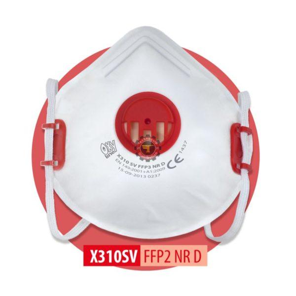 Demi masque anti poussière ffp3 avec valve