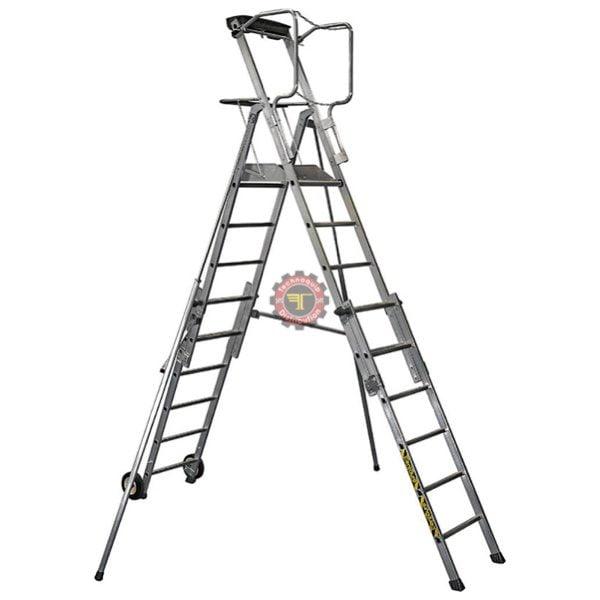 Escabeau réglable 6 à 9 marches Centaure tunisie échelle échafaudage manutention travail en hauteur technoquip