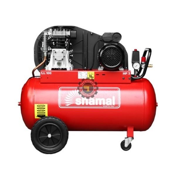 Compresseur à piston 100l Shamal Monophasé tunisie pneumatique traitement de l'air à vis air comprimé technoquip distribution