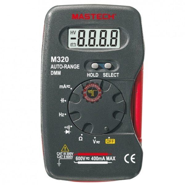 Multimètre M320 Mastech testeur courant Tunisie technoquip distribution phase réseau ohm volt ampère