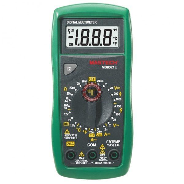 Multimètre MS8321E Mastech testeur courant Tunisie technoquip distribution phase réseau ohm volt ampère