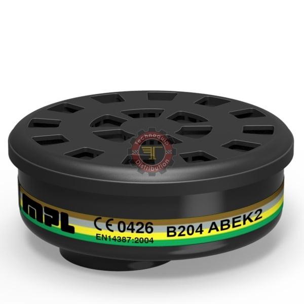 Filtre à gaz ABEK2 B204 MPL protection respiratoire EPI Équipement de protection individuelle tunisie technoquip distribution