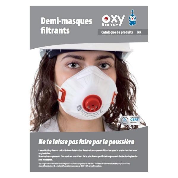 catalogue oxyline tunisie ffp1 ffp2 ffp3 demi masque anti poussière et aérosol charbon actif