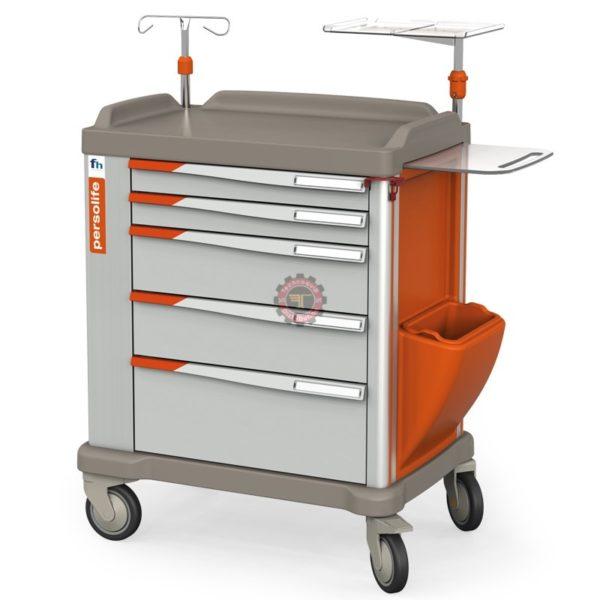 Chariot d'urgence 5 tiroirs Persolife 600 France Hôpital tunisie équipement médical et para hospitalier urgence réanimation clinique équipement technoquip distribution rea