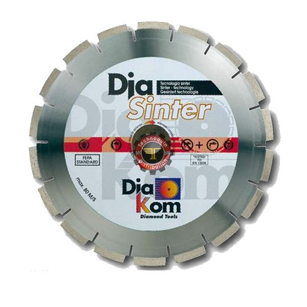 Disque diamant segmenté 230 DIAKOM tunisie outil de coupe abrasif métal granite inox technoquip distribution