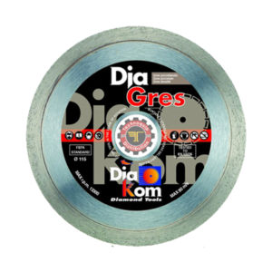Disque diamant grés DIAKOM tunisie outil de coupe abrasif métal granite inox technoquip distribution