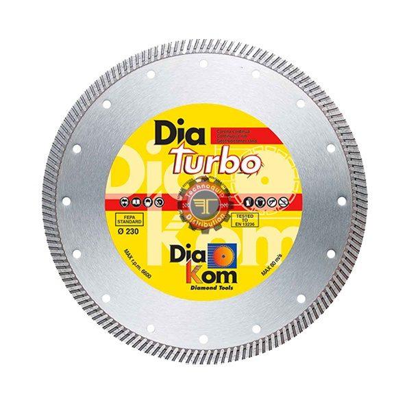 Disque diamant turbo universel DIAKOM tunisie outil de coupe abrasif métal granite inox technoquip distribution