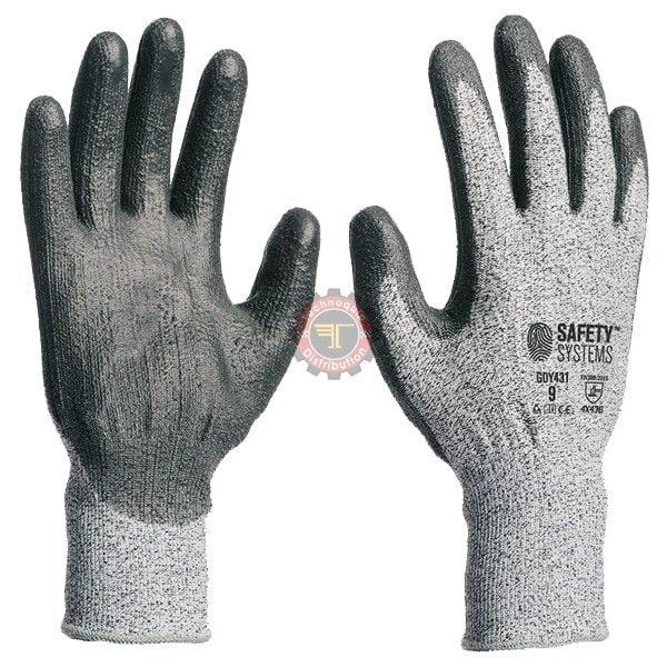 Gants anti coupure niveau 3 Gant en maille sans coutures résistante à la coupure tunisie