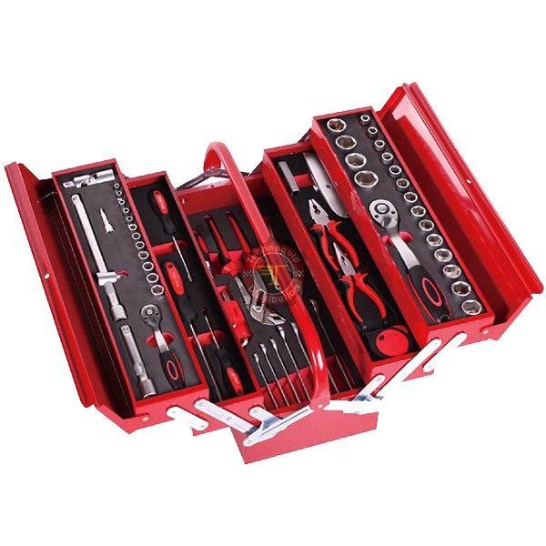 Jeu d'outils de serrage dans caisse métallique à compartiments M086 tunisie