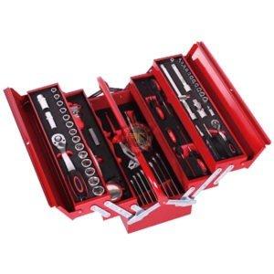 Jeu d'outils de serrage dans caisse métallique à compartiments M088 tunisie