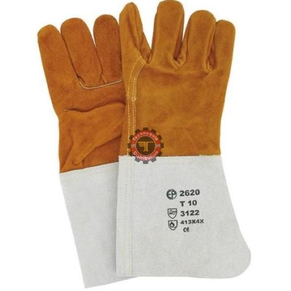 Gants anti chaleur en croûte de cuir epi tunisie gant de travail Technoquip distribution