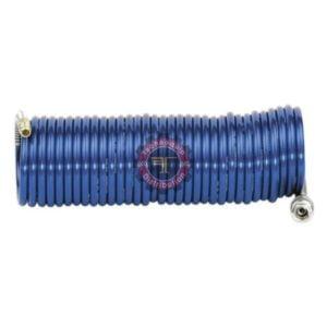 Flexible spiralé équipé d'un embout et d'un coupleur rapide ou raccord 1/4 tunisie pneumatique Technoquip polyuréthane polyéthylène compresseur