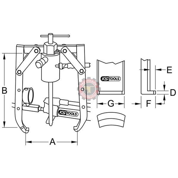 Extracteur universel avec vérin hydraulique tunisie